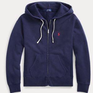 Polo Ralph Lauren fleece hoody. Col navy sz M.